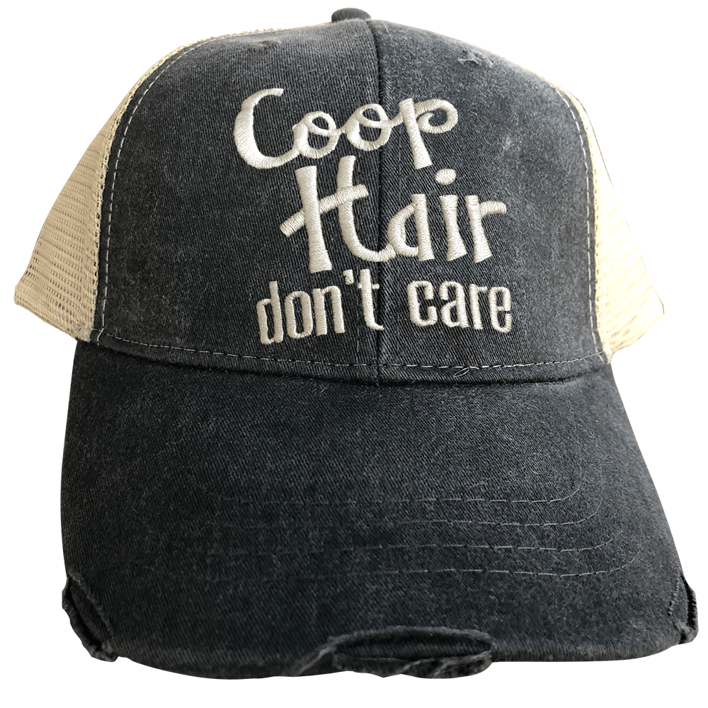 Coop Hair Don't Care Black Trucker Cap
