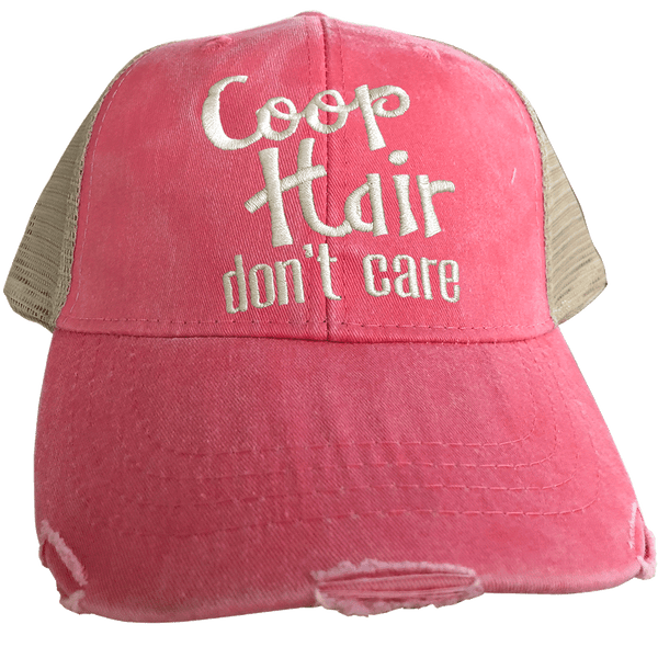 Coop Hair Don't Care Coral Trucker Cap