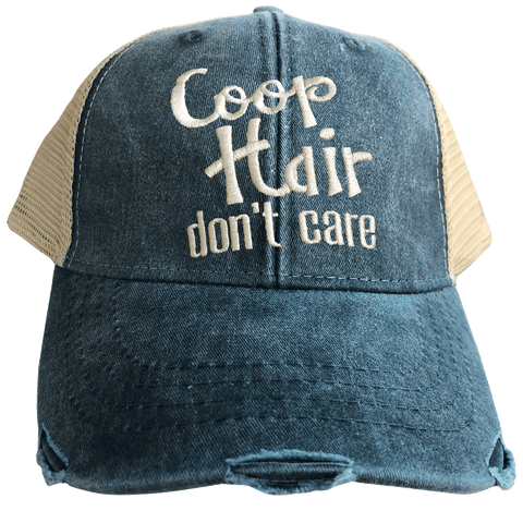 Coop Hair Don't Care Denim Trucker Cap