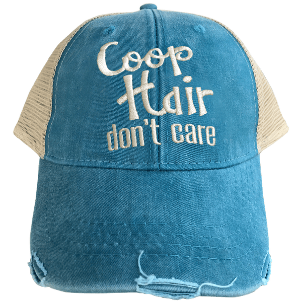 Coop Hair Don't Care Teal Trucker Cap