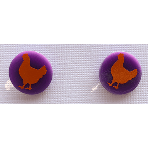 Chicken Earrings