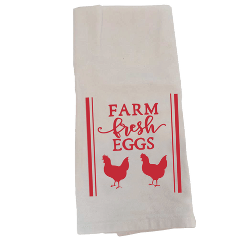 Kitchen Towel, Farm Fresh Eggs