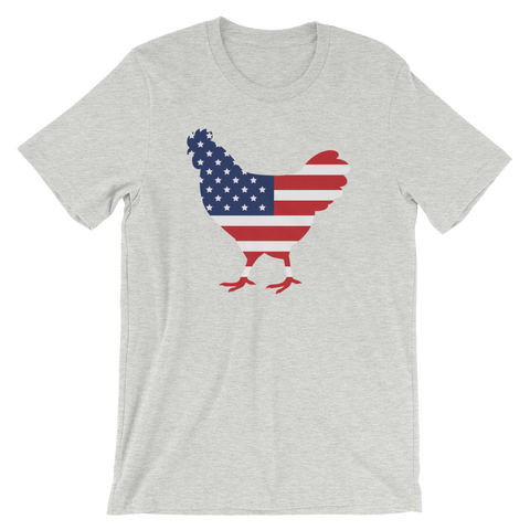 T-Shirt, Short-Sleeve Unisex, Chicken USA