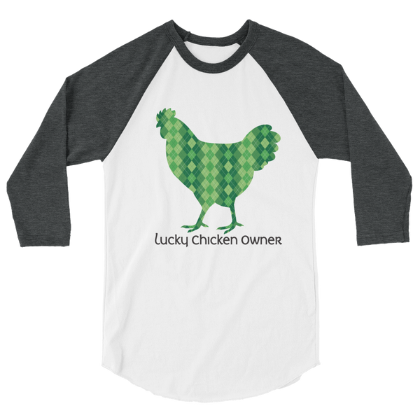 T-Shirt, 3/4 Sleeve Raglan, Celtic Argyle Chicken