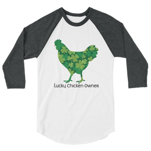 T-Shirt, 3/4 Sleeve Raglan, Lucky Clover Chicken