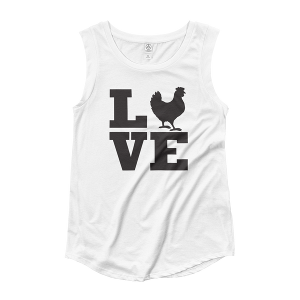 Tank Top Ladies' Cap Sleeve, Chicken Love