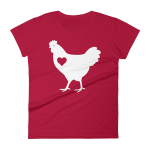 T-Shirt, Women's Short Sleeve, Chicken Heart