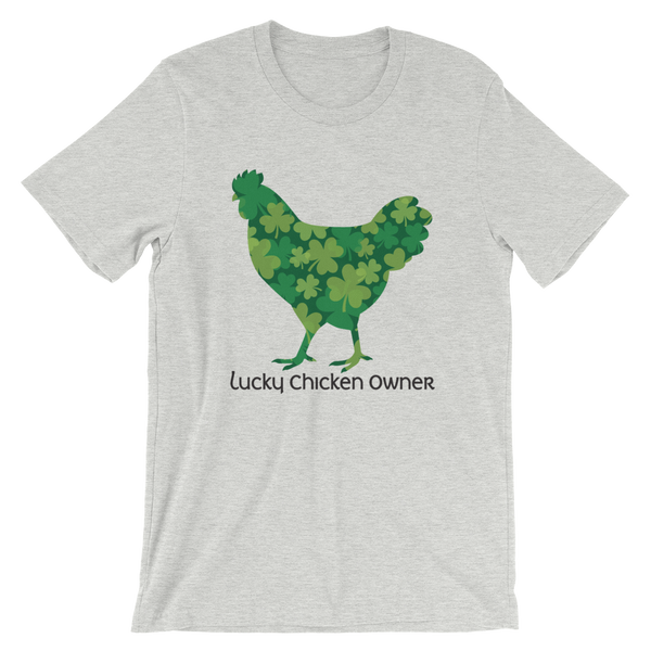 T-Shirt, Short-Sleeve Unisex, Lucky Clover Chicken