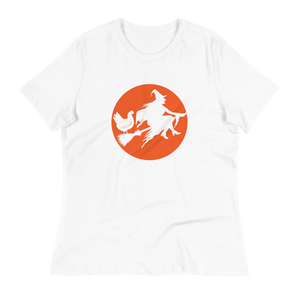 T-Shirt, Women's Relaxed Short Sleeve, My Chicken Rides Shotgun