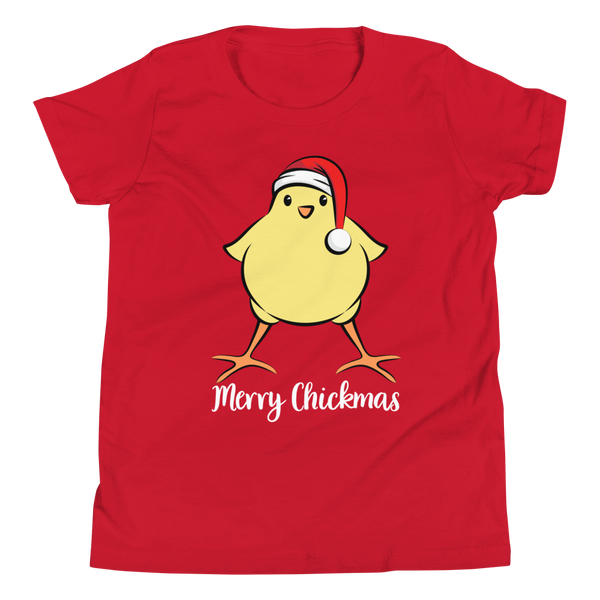 T-Shirt, Youth Short Sleeve, Merry Chickmas