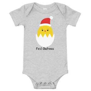 T-Shirt, Onesie, Baby's First Chickmas