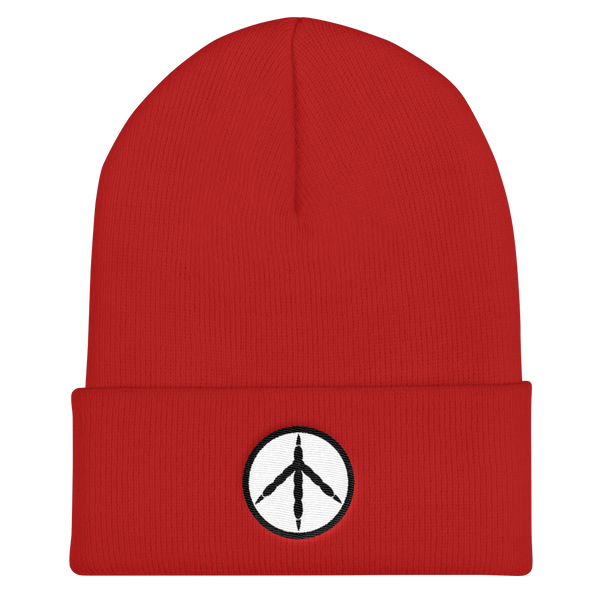 Chicken Peace Red Knit Cap