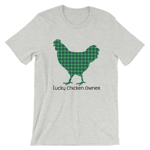T-Shirt, Short-Sleeve Unisex, Tartan Plaid Chicken