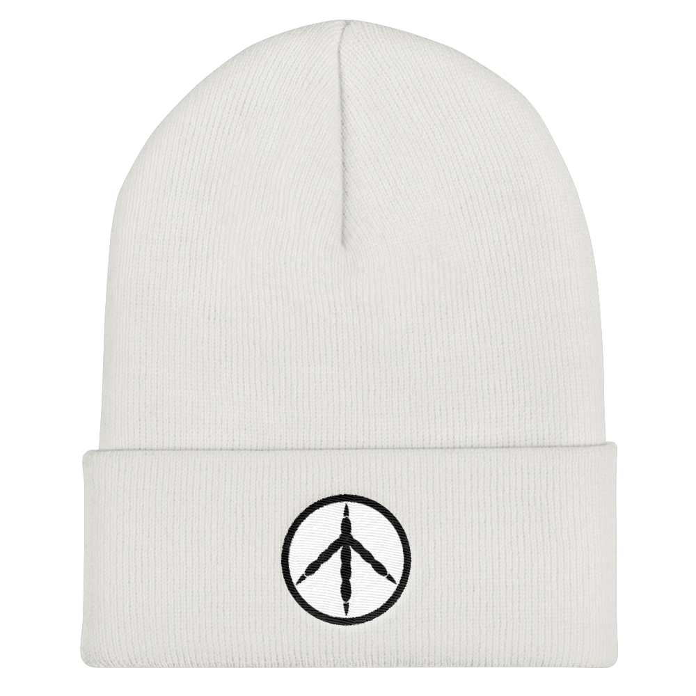 Chicken Peace White Knit Cap