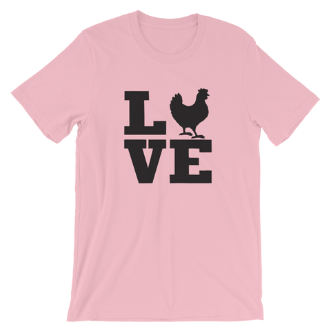 T-Shirt, Short-Sleeve Unisex, Chicken Love
