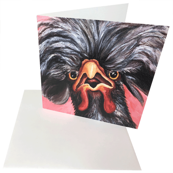"Prints & Note Cards From Original Painting, Titled - ""Big Hair Don't Care"""