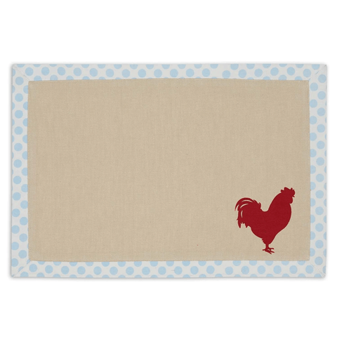 Red Rooster Printed Placemat
