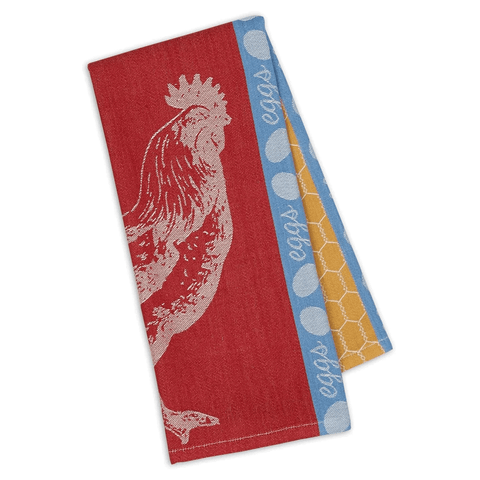 Rooster Coop Jacquard Dish Towel