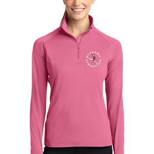 NEW! Ladies 1/2 Zip Moisture-Wicking Pullover
