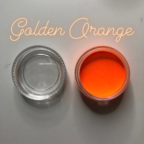 Golden Orange Paint Pot