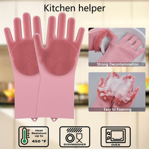 HIGH QUALITY Silicone Magic Gloves - What You Need For Daily Cleaning Up...