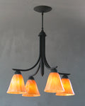 Four Shade Bell Chandelier