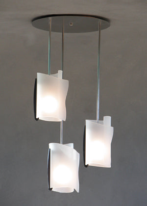 Rolled Glass Chandelier