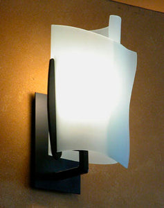 Rolled Glass Sconce #1