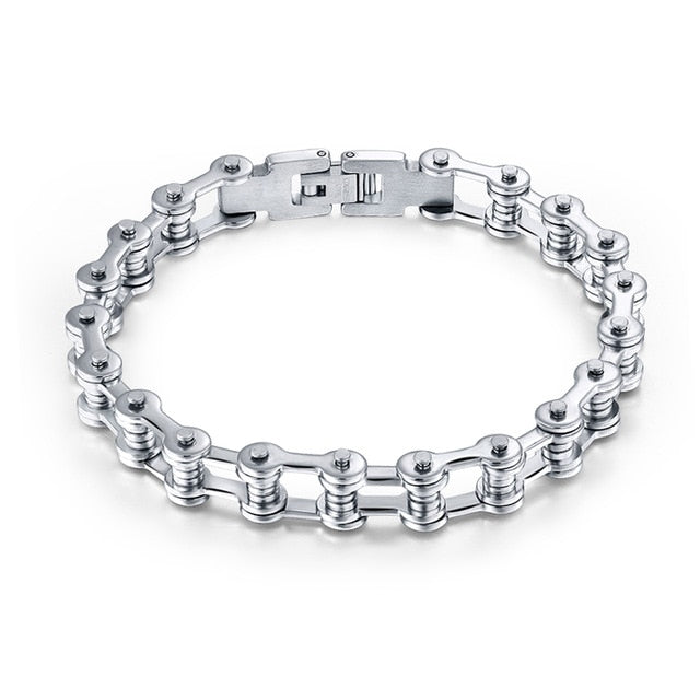 Stainless Steel Bike Chain Bracelet - Style 2 - Bracelets