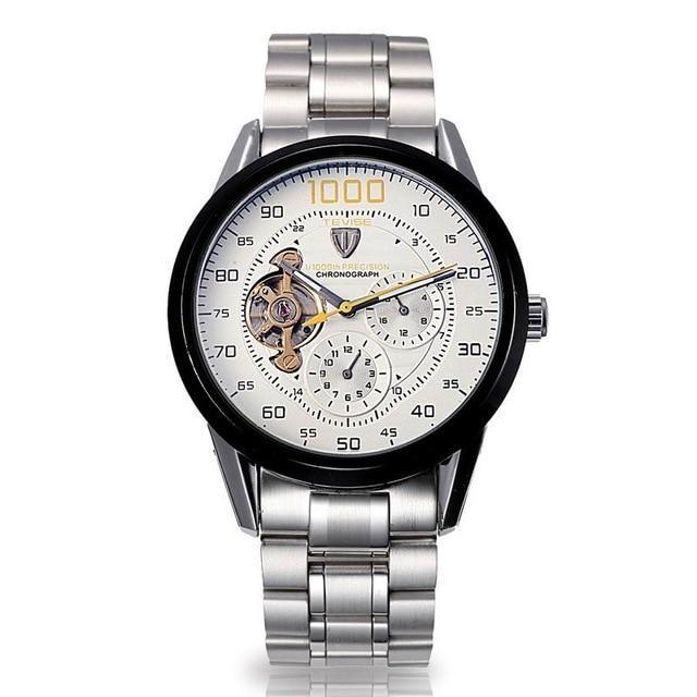 Automatic Winding Mechanical Watch - White - Stainless Steel