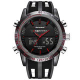 Dual Face Military Style Watch - Red