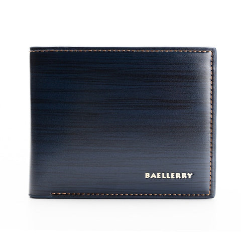 Leather Bifold Wallet In Different Colors - Blue - Bifold Wallet