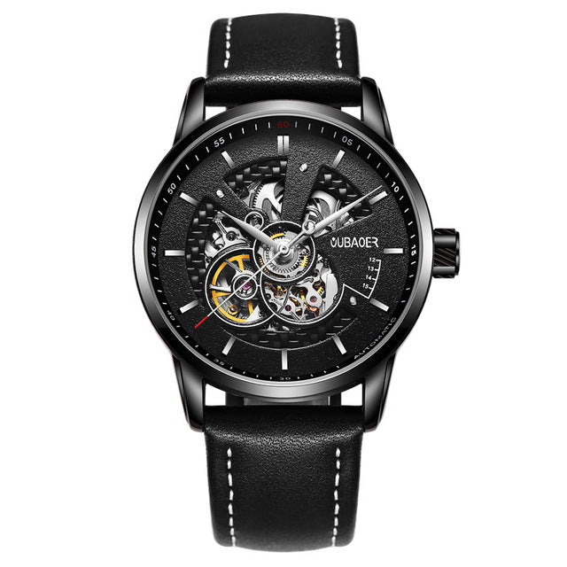 Skeleton Watch Various Colors - Black - Mechanical Watches