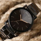 Minimalist Watch With Stainless Steel Band - Leather Watches