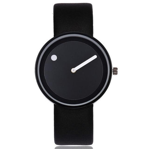 Numberless Watch - Black Black - Leather Watches