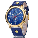 Waterproof Casual Watch - Golden Blue - Mechanical Watches