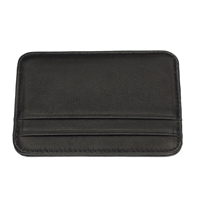Slim Leather Two Pocket Wallet - Minimalist Wallets For Men