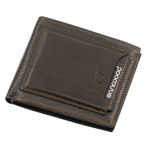 Universal Men Cow Leather Bifold Wallet - Brown - Bifold Wallet