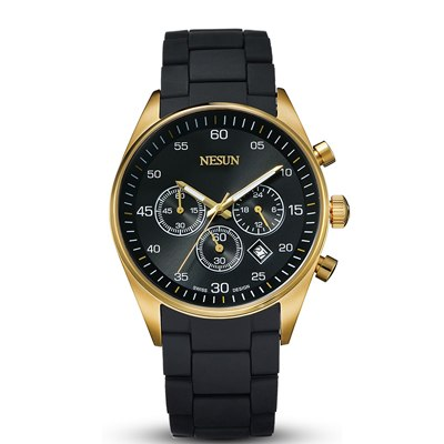 Gold Chronograph Watch With Stainless Steel Band - Item 2 - Mechanical Watches