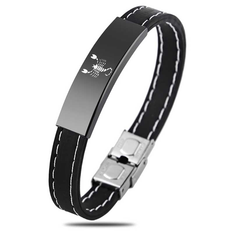 Zodiac Sign Silicone Bracelet For Men - Bracelets