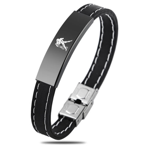 Zodiac Sign Silicone Bracelet For Men - Aquarius - Bracelets