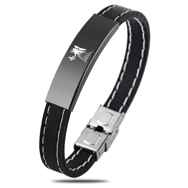 Zodiac Sign Silicone Bracelet For Men - Virgo - Bracelets