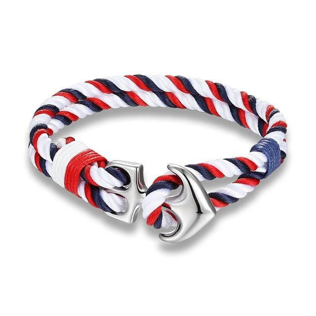 Anchor Rope Bracelets - Red And Blue - Bracelets