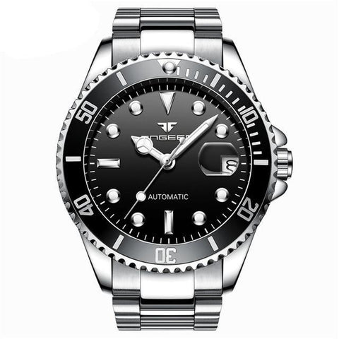 Classic Stainless Steel Watch - Steel Black - Stainless Steel