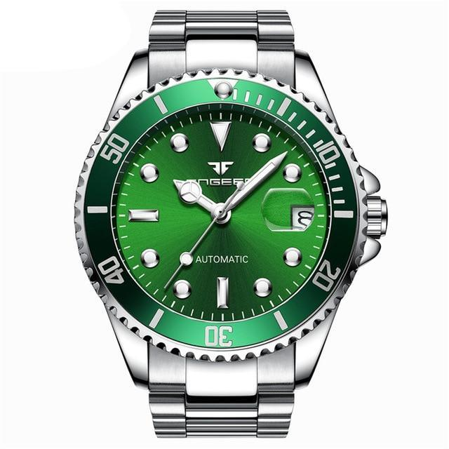 Classic Stainless Steel Watch - Steel Green - Stainless Steel