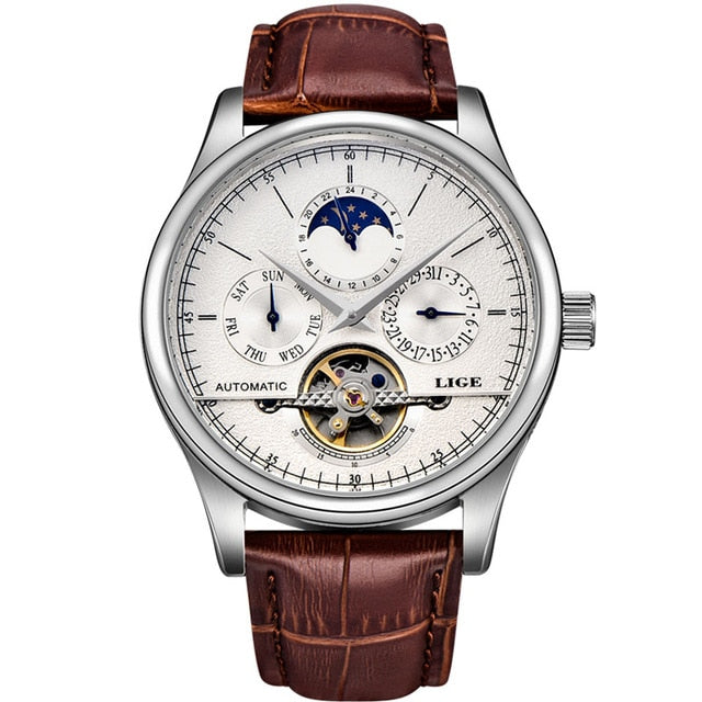 Moonphase Watch - Silver White - Water Resistant
