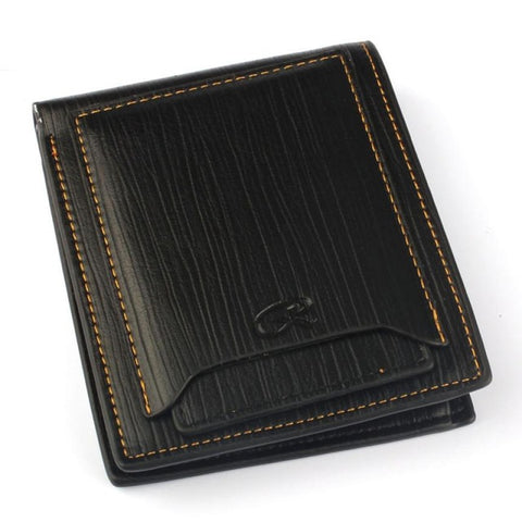 Black Slim Bifold Mens Leather Wallet - Bifold Wallet