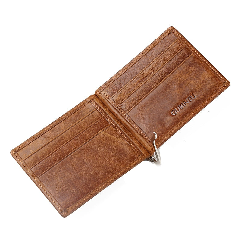 Slim Vintage Leather Wallet - Bifold Wallet