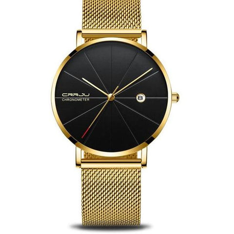 Stainless Steel Mesh Watch In Multiple Colors - Gold Black - Watches