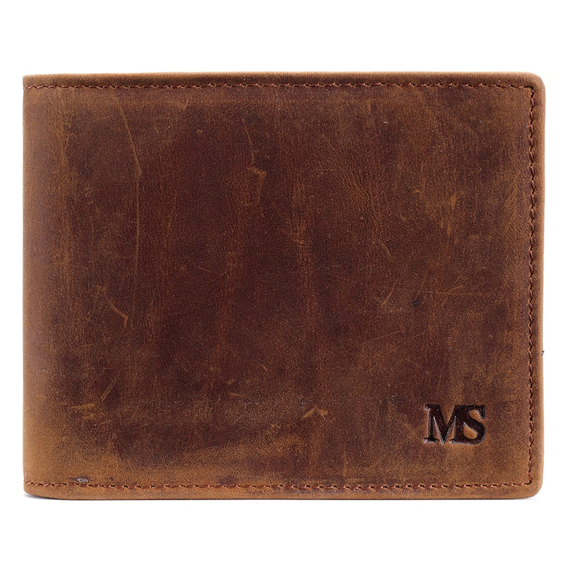 Casual Mens Brown Leather Wallet - Bifold Wallet